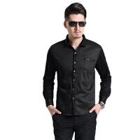 商务男士衬衫加绒加厚男士保暖衬衫   格子长袖男式衬衫