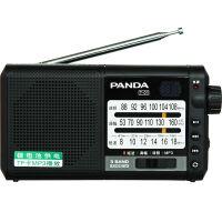 【当当自营】 熊猫/PANDA T-01多全波段便携式插卡充电半导体收音机老人播放器 黑色