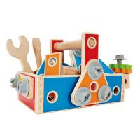 [当当自营]德国Hape 百变木匠工具盒  儿童玩具 益智玩具 启蒙早教 螺母拆装组装 E8039