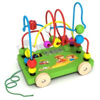 木童 儿童益智积木早教启蒙玩具 拖车绕珠串珠 婴幼儿教具益智积木 玩具车 TZ-B8004