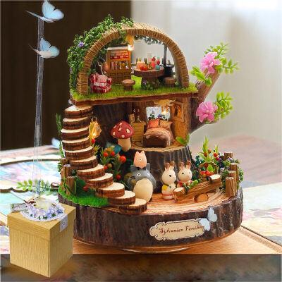 日用手工制作奇幻森林拼装模型送女友生日礼物创意音乐盒摆件奇幻森林