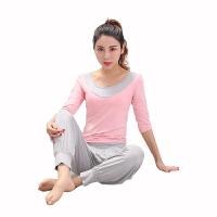 【用券立减30元】物有物语 瑜伽套装 女室内健身瑜伽服显瘦套装莫代尔灯笼裤长袖短袖运动健身服上衣夏季舞蹈服瑜伽服
