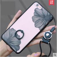 简约蕾丝花朵iphone6s手机壳苹果6plus指环支架4.7全包软胶保护套苹果iPhone6手机壳plus保护套六6s女款5.54.7指环支架