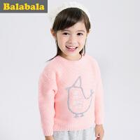 巴拉巴拉童装女童毛衣小童宝宝上衣2016冬装新款儿童针织衫