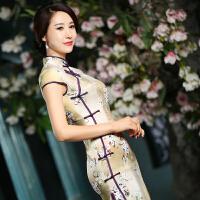 中长款改良时尚复古旗袍
