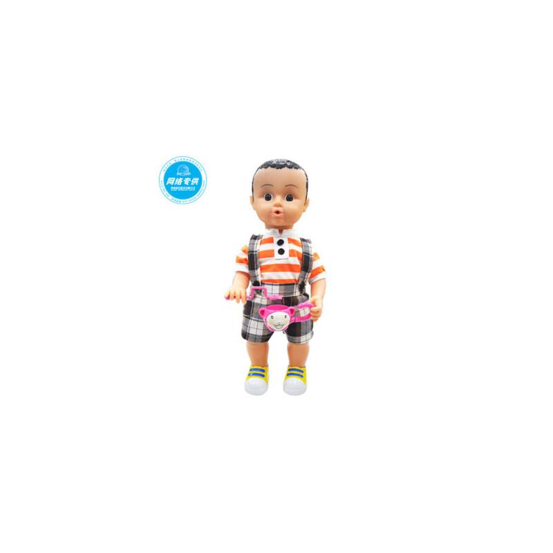 儿童益智早教娃娃 智能语音会音乐吹风车 吹泡娃娃 女孩玩具_男款