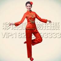 新款民族秧歌服演出服女装古典舞台表演服 鼓服饰 现代扇子舞蹈服舞台演出服
