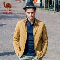 骆驼男装 春装新款夹克男 男士日常休闲立领jacket外套男