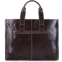超薄商务公文包复古潮流男士手提包头层牛皮电脑包时尚手提包