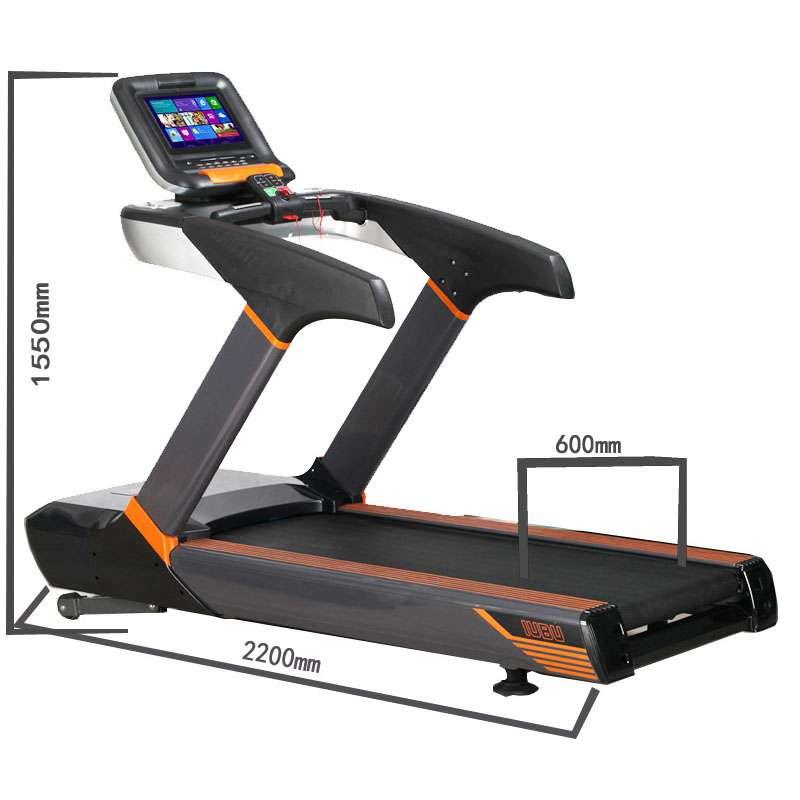 彩屏商用健身交流电机跑步机房事业单位健身健身跑步机_黑色图片