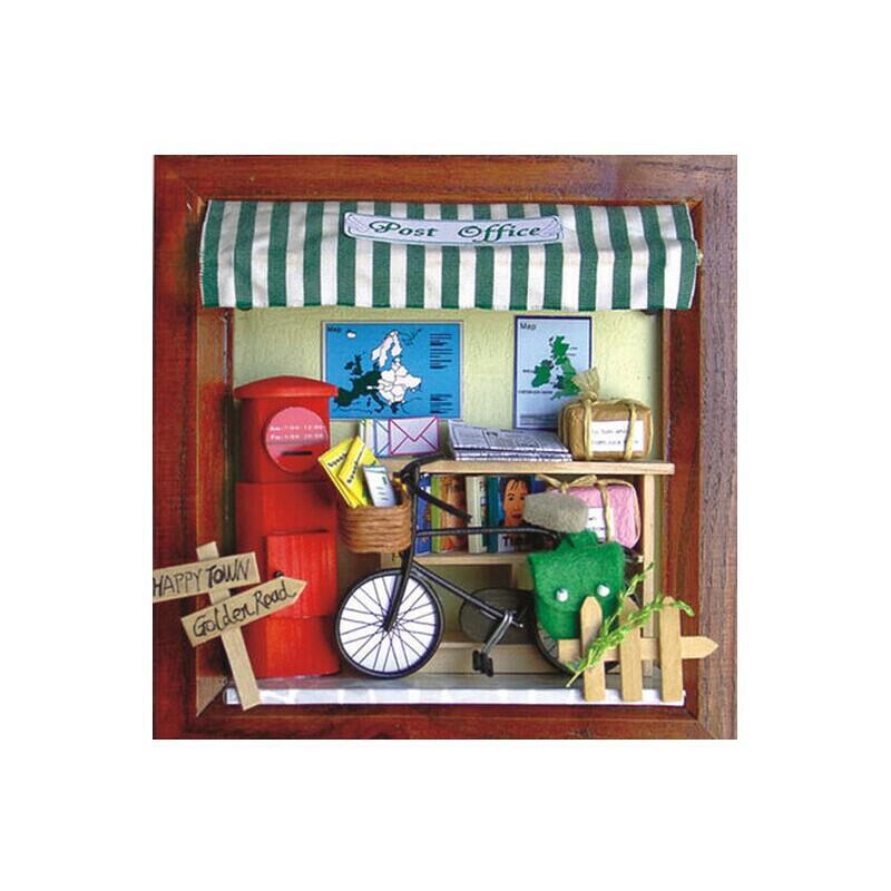 卡纸手工制作立体糖果屋