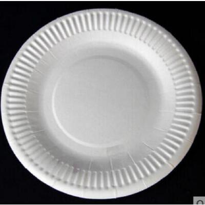 幼儿园diy彩绘手工制作材料 手绘画画圆形纸盘 一次性蛋糕盘子白色