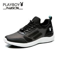 花花公子休闲鞋 轻质弹力运动跑鞋拼接透气网布鞋 德-CX39628T