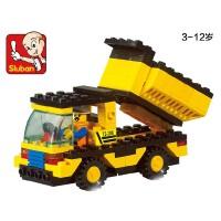 全店满99包邮!小鲁班积木 重型工程车自卸车儿童益智拼接积木玩具拼装模型wanju
