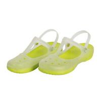 潮路思夏季变色鞋洞洞鞋果冻鞋女士凉拖鞋沙滩鞋平跟鞋花园鞋夏包头鞋CLS-010 草绿色
