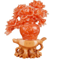 树脂工艺品 富贵平安 牡丹花瓶 家装摆件 婚庆摆件/礼品