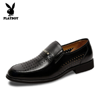 花花公子新款夏季正装休闲皮鞋洞洞鞋 凉鞋套脚低帮鞋男鞋子