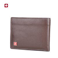 瑞士军刀 复古真皮男士钱包 休闲多卡位钱夹皮夹男韩版 BW650914