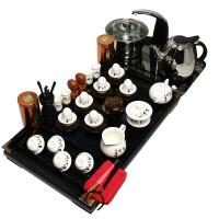 尚帝 白手写唐诗茶具套装 实木茶盘 功夫茶具 电热壶茶盘套装 TZ-BJ12K003