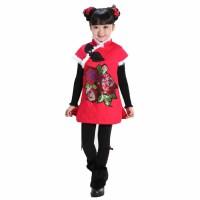 户外儿童过年喜庆贺岁冬装唐装夹棉棉旗袍千禧系列 棉服