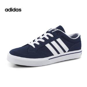 Adidas/阿迪达斯GVP 2017新款深蓝色低帮帆布鞋轻便透气休闲板鞋情侣款AW5080