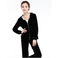 天鹅绒运动套装 显瘦女装卫衣休闲健身时尚修身瑜伽服
