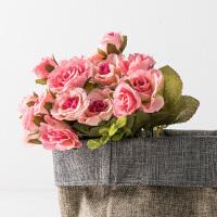 奇居良品 仿真花艺绢花假花 玛利亚玫瑰花束 单束