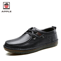 美国苹果Apple手工男士皮鞋英伦商务休闲鞋秋季软底防滑驾车鞋潮鞋AP-1609