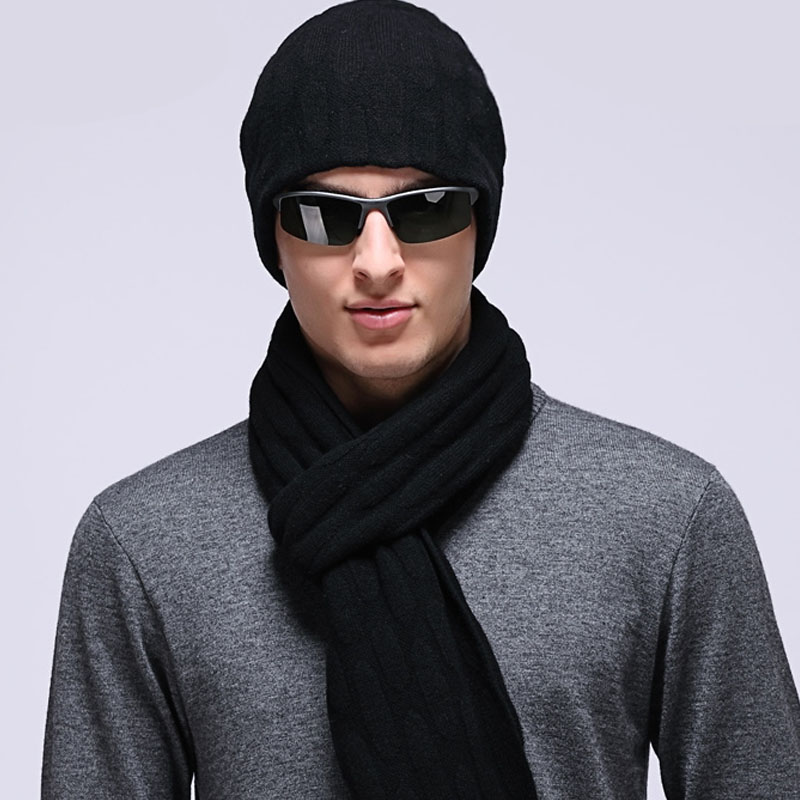 羊毛帽子+針織圍巾套裝女士保暖毛線帽 春秋冬季男士圍脖披肩女士保暖圖片
