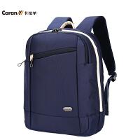 卡拉羊双肩包男商务休闲男士背包电脑包旅行双肩包CS5674