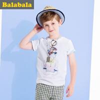 巴拉巴拉男童短袖t恤纯棉中大童上衣童装夏装儿童英伦T恤