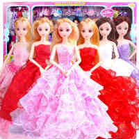 一号玩具 换装娃娃套装大礼盒玩具婚纱衣服巴比公主儿童女孩玩具洋娃娃