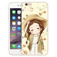 伯朗苹果6 plus手机壳6s plus手机套5.5保护套硅胶彩绘卡通外壳