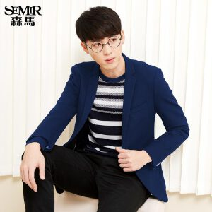 森马西服 2017春装新款 男士修身时尚休闲两粒扣外套上装韩版西装