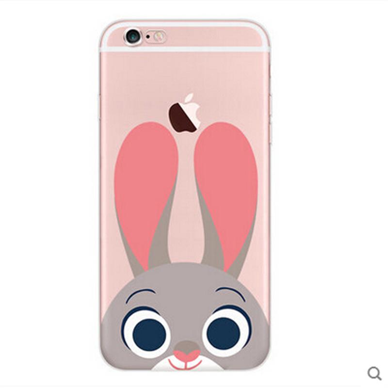 尼克情侣女iphone6 plus日韩se新款硅胶软q版透明疯狂动物城可爱