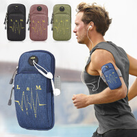 跑步手机臂包男女运动手臂包苹果6/7plus防水手机臂带健身手腕包