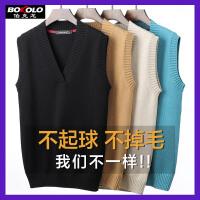 伯克龙 男士纯羊毛衫可翻高领 男装冬季厚款修身打底针织衫毛线衣黑色灰色红色 Z88290