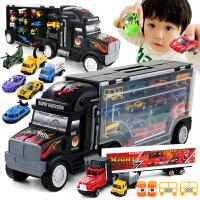物有物语 车模 儿童玩具大货车玩具合金玩具车收纳箱大货柜车运输车礼物合金 男孩玩具