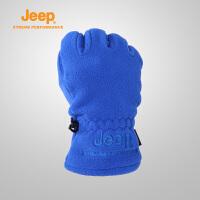 Jeep/吉普 秋冬户外运动骑行防风棉加厚抓绒手套J660061359