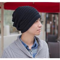 冬季男士帽子空顶帽两用帽子男保暖帽毛线帽针织帽韩版潮