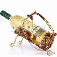 欧式创意红酒架客厅摆件 金色收获酒架家居酒柜装饰品摆设 创意礼品