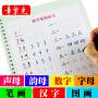章紫光幼儿早教学前班儿童小学生练字贴 凹槽书法字帖自动消字字帖 反复书写