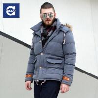 AMAPO潮牌大码男装 胖子加肥加大码冬季棉衣服加厚保暖棉袄外套男