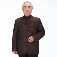 休闲简约 中老年男士唐装外套老年人唐装大码加厚中式棉袄中国风棉衣