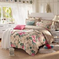 OLYI 纯棉床上用品四件套 全棉斜纹活性印花床单式家纺四件套 花舞佳人床品四件套 床上四件套