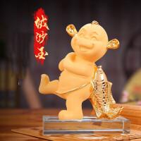 工艺品新年商务会议定制礼品办公桌创意装饰品 生肖猴子摆件