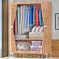 索尔诺不锈钢布衣柜单人简易衣柜钢管加粗加固25MM钢架牛津布衣橱2590D