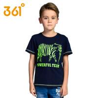 361度男童装夏季运动短袖T恤中大童学生纯棉儿童t恤