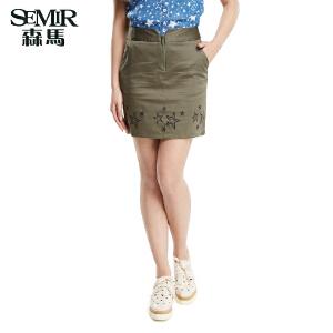 森马夏装新款短裙韩版女装半身裙百搭裙子印花星星裙子女半裙