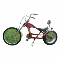 24寸哈雷型自行车复古沙滩太子海滩车bicycle 公路车 山地车 红色 24英寸